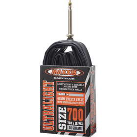 Maxxis UltraLight Schlauch 700x18/25C, Presta black